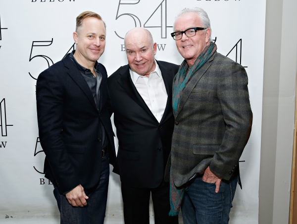 Jack O''Brien with scenic designer Scott Pask and celebrity hair stylist John Barrett Photo
