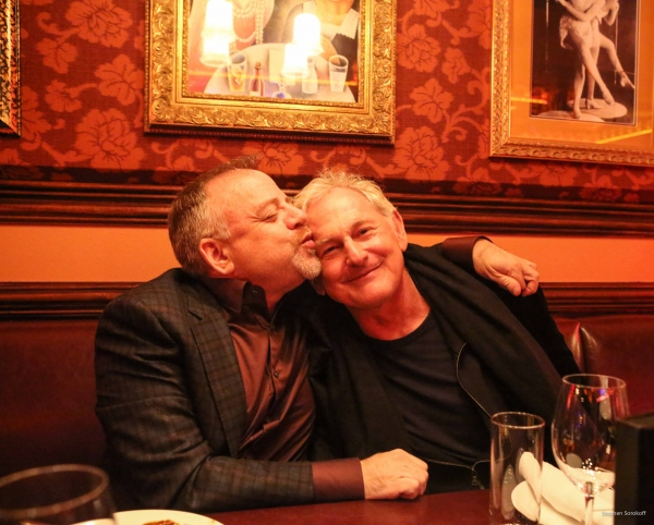Marc Shaiman and Victor Garber. Photo by Stephen Sorokoff.