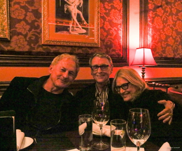 Victor Garber, Mike Nichols and Diane Sawyer Photo