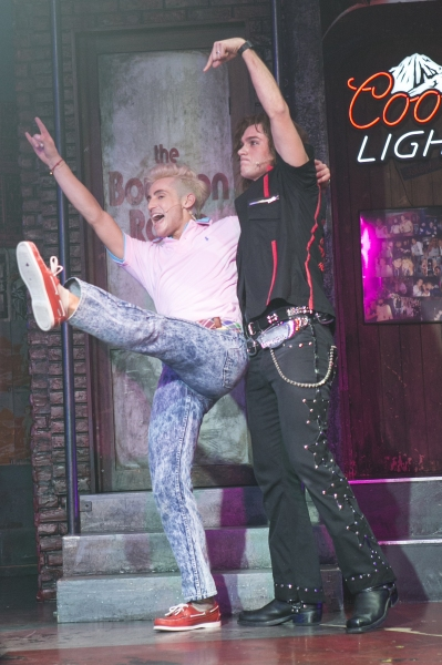 Photo Coverage: BIG BROTHER's Frankie J. Grande Joins Broadway's ROCK OF AGES!