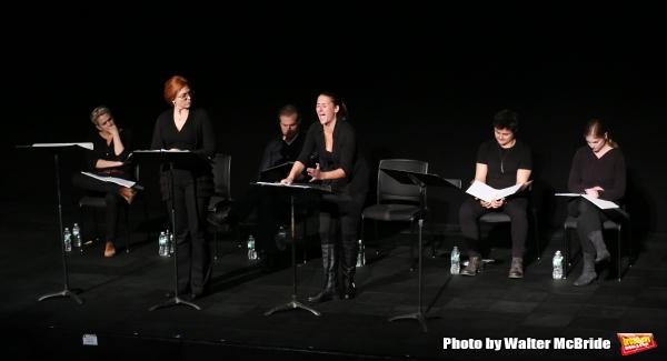 Cady Huffman, Carolee Carmello, Marc Kudisch, Deborah Rayne, Arturo Ruiz and Ella Der Photo