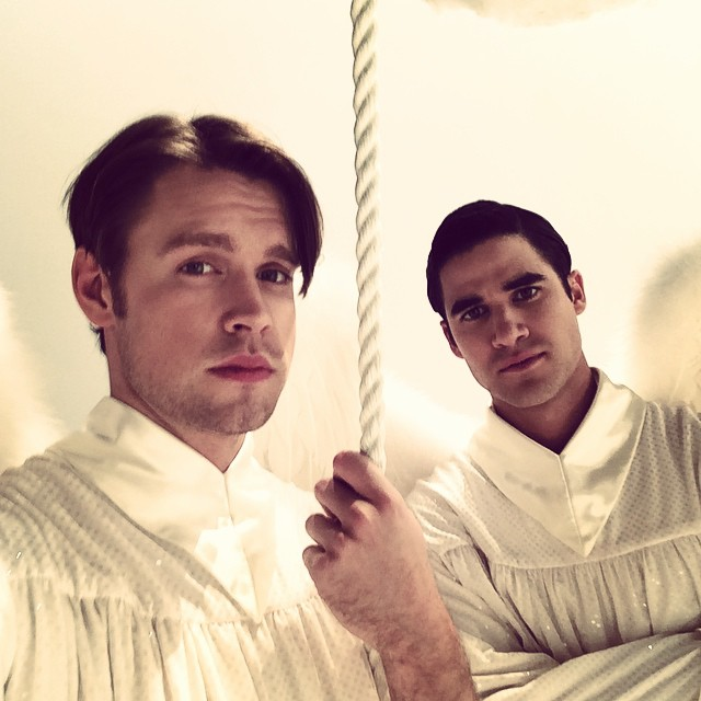 Criss Chord Overstreet Share Video From Set Of Glee Final Season