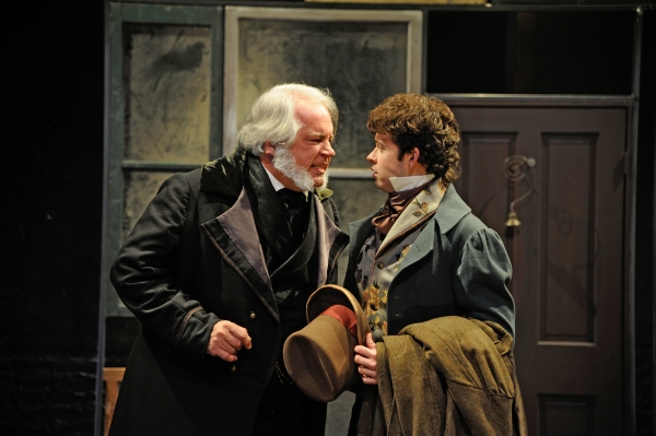 Fred Sullivan, Jr. as Ebenezer Scrooge and Michael Jennings Mahoney as Fred