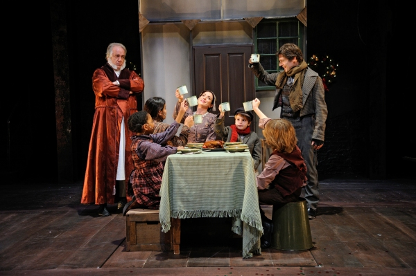 Fred Sullivan, Jr. as Ebenezer Scrooge, Samia Nash as Belinda, Tara Sullivan as Martha, Ava Gaudet as Mrs. Cratchit, Henry Siravo as Tiny Tim, Stephen Thorne as Bob Cratchit and Bobby Miller III as Peter
