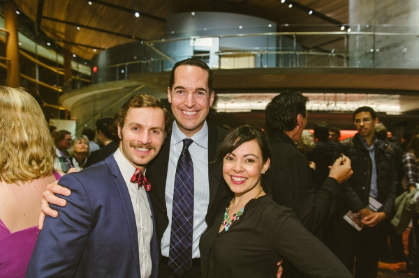 Choreographer Parker Esse (center) with cast members Curtis Schroeger and Jesse Palmer