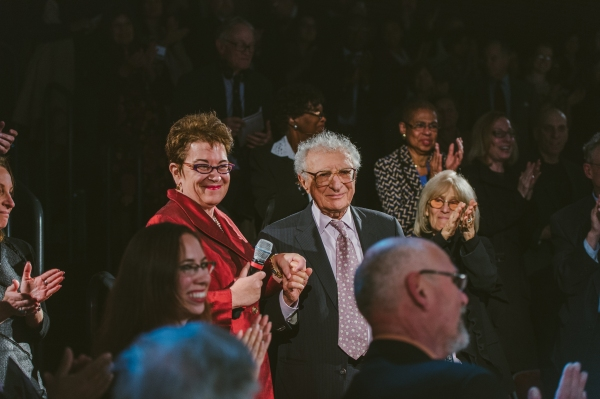 Artistic Director Molly Smith and Sheldon Harnick