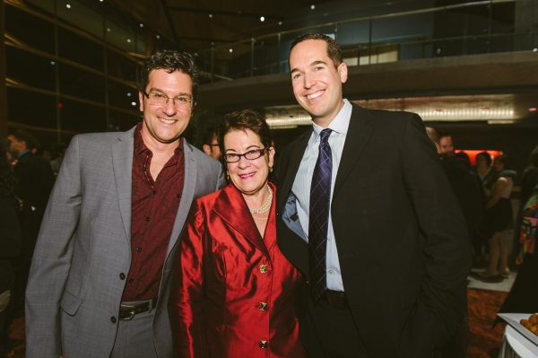 Musical director Paul Sportelli, Artistic Director Molly Smith and choreographer Parker Esse