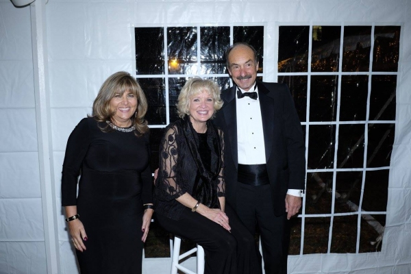 Christine Ebersole with Honoree Bruce Migatz and his wife, Victoria