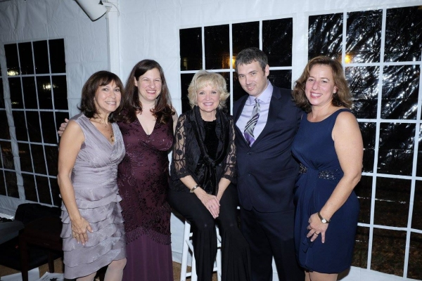 Christine Ebersole with Landmark on Main Street staff members, Beth Eule, Sharon Maier-Kennelly, Sean Perry & Ilene Silberstein