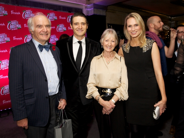 Tom Chambers with his parents Stuart and Rosmary and wife Clare Harding