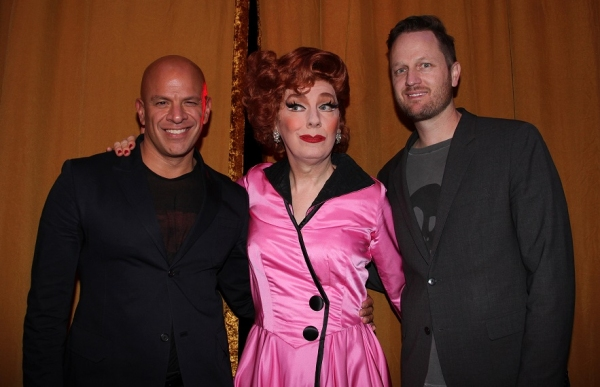 Agent Mark Subias, Lypsinka, and composer Todd Almond