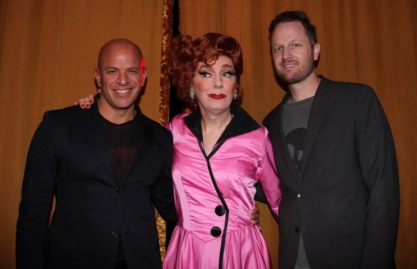 Agent Mark Subias, Lypsinka, and composer Todd Almond