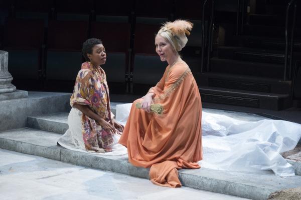 Makha Mthembu as Marina and Ally Carey as Dionyza