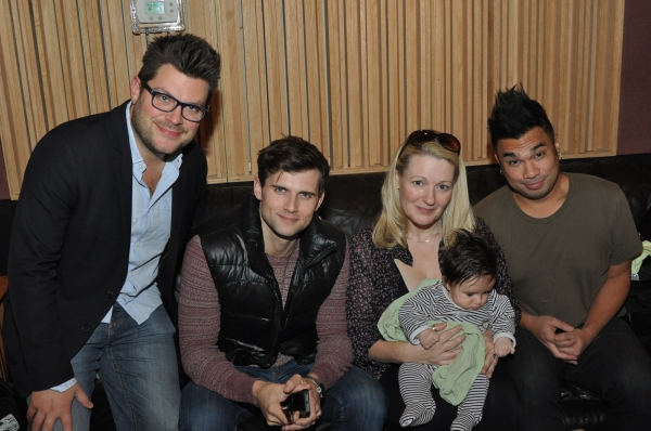 Sonny Paladino, Kyle Dean Massey, Lynn Pinto (Producer), Archie, and Andros Rodriguez (Engineer)