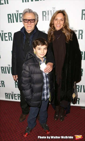 Harvey Keitel, son Roman Keitel and Daphne Kastner