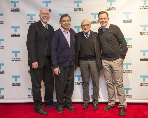 Duane Poole (far left) and Larry Grossman (second from right) with director William Pullinsi (second from left) and actor Geoff Rice