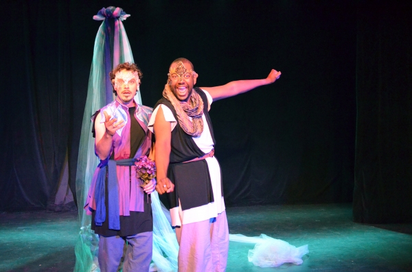 Ian Blackwell Rogers as Oberon and Anderson Wells as Puck