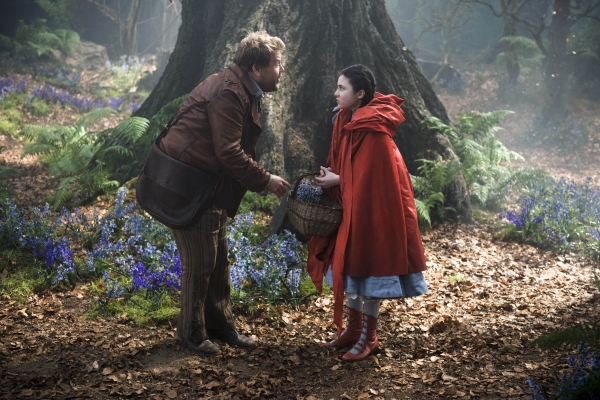 James Corden as The Baker and Lilla Crawford as Little Red
