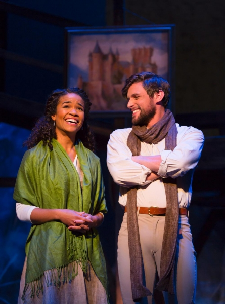 Britney Coleman (Guenevere) and Oliver Thornton (King Arthur)