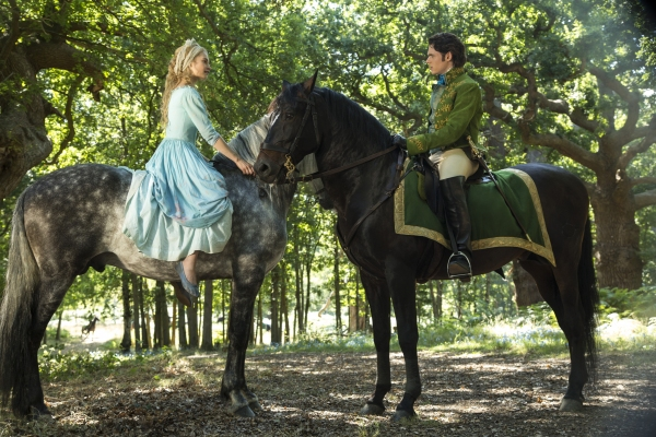Lily James is Cinderella and Richard Madden is the Prince