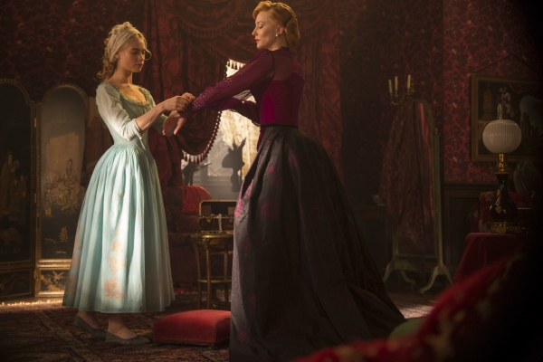 Cate Blanchett is the Stepmother and Lily James is Cinderella