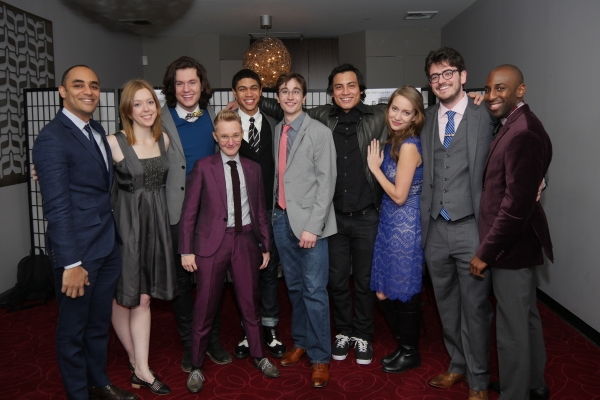Director Saheem Ali, Blair Baker, james Scully, Reynaldo Piniella, Matthew Bretschneider, Em Grosland, Jonathan Iglesias and Kayla Wickes, Playwright Nathaniel Sam Shapiro and Producer Rashad V. Chambers