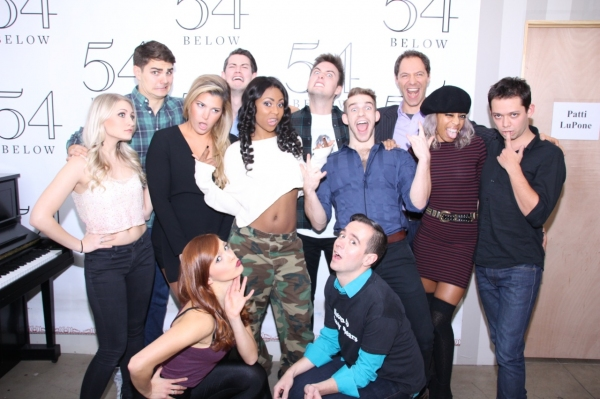 The cast with choreographer Sunny Walters and music director Benjamin Rauhala.