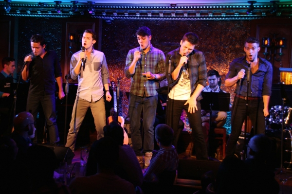 Robert Hager, Chris Dwan, Austin Colby, Josh Tolle, and Mack Shirilla sing *NSync''s ''Tearin'' Up My Heart.''