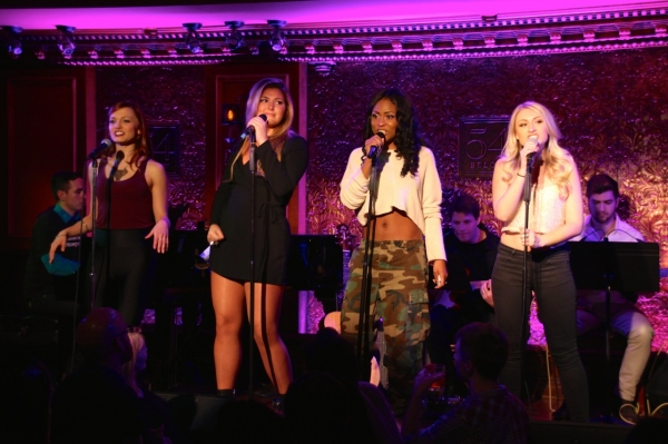 Jen Noble, Isabelle, Tashiana Washington, and Aashley Morgan sing the Mya, P!nk, Lil' Photo