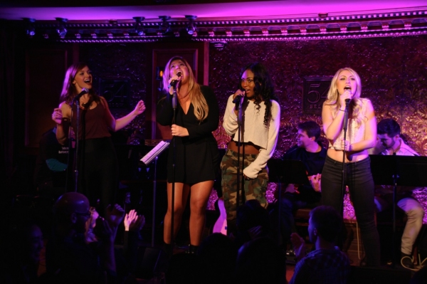 Jen Noble, Isabelle, Tashiana Washington, and Aashley Morgan sing ''Lady Marmalade.'' Photo
