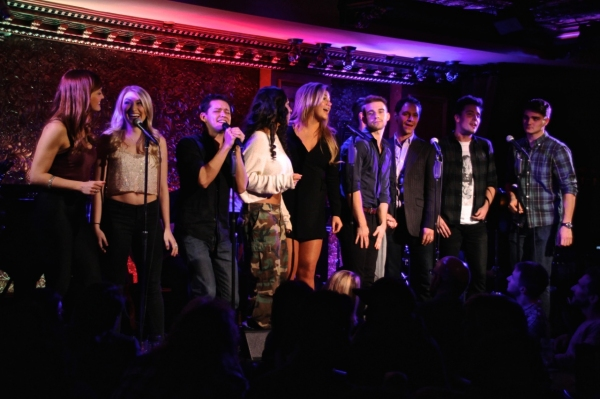 The cast sings the Backstreet Boys'' ''I Want It That Way.''