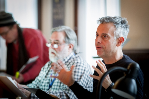 Stage Manager Malcolm Ewen and director Joe Mantello