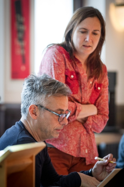Director Joe Mantello and playwright Lisa D'Amour