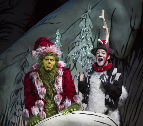 Burke Moses as The Grinch and Jeffrey Schecter as Young Max