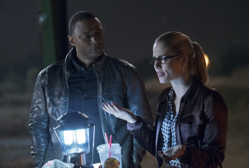 David Ramsey and Emily Bett Rickards