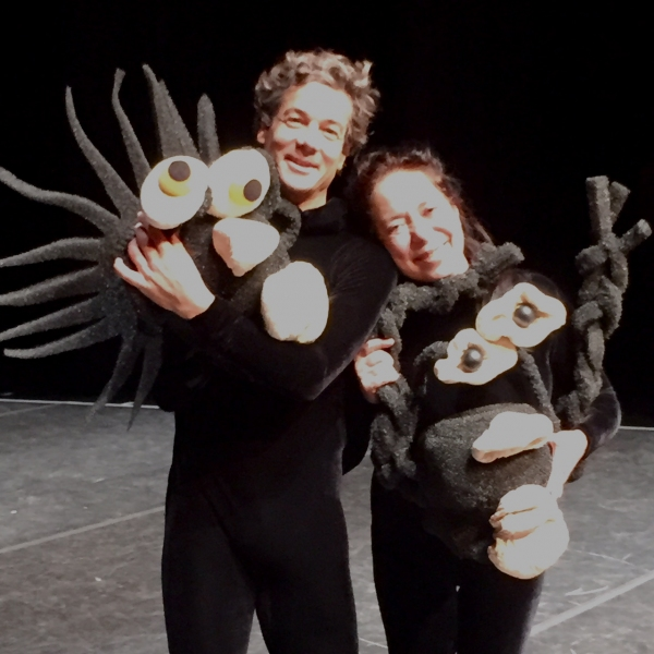 MUMMENSCHANZ performer Philipp Egli, and founder and performer Floriana Frassetto