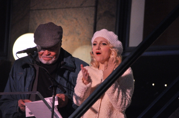 James Earl Jones and Annaleigh Ashford