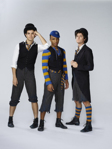PETER PAN LIVE! -- Season: 2014 -- Pictured: (l-r) Jason Gotay, Dyllon Burnside, and Chris McCarrell as Lost Boys -- (Photo by: Patrick Randak/NBC)