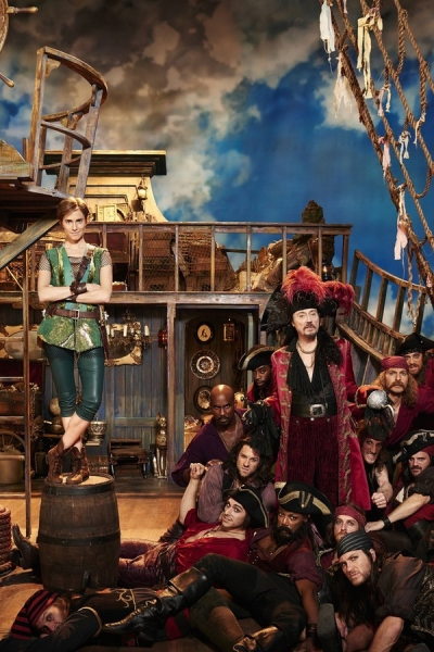 PETER PAN LIVE! -- Season: 2014 -- Pictured: Allison Williams as Peter Pan, Pirates, Christopher Walken as Captain Hook -- (Photo by: Virginia Sherwood/NBC)