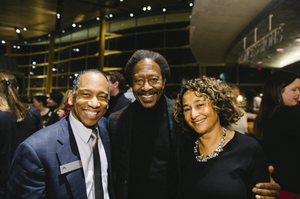 Director of Artistic Programming Robert Barry Fleming, book writer Clarke Peters and Penny Peters