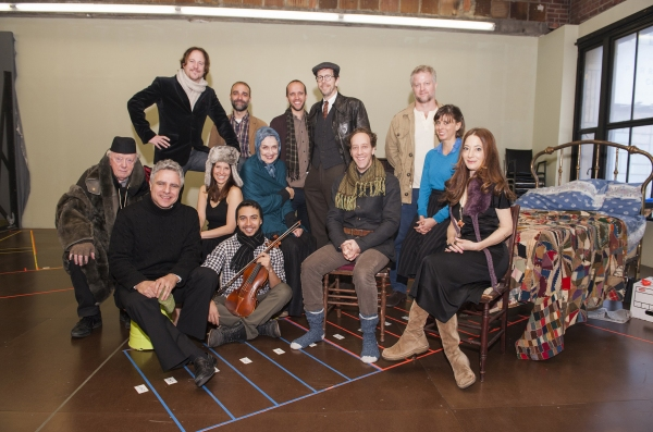 Standing: Patch Darragh, Ben Beckley, Nathan Dame, Robert Stanton, C.J. Wilson; Sitting: Peter Maloney, director Neil Pepe, Mia Barron, Andrew Mayer, Mary Beth Peil, Joey Slotnick, Jeanine Serralles and Clea Lewis.