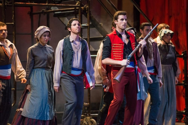 Sean Thompson as Enjolras with cast