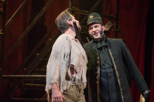 James Zannelli as Javert and John Smitherman as Valjean