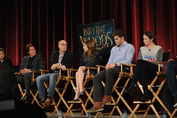 Tracey Ullman, Rob Marshall, James Lapine, Anna Kendrick, Chris Pine and Emily Blunt