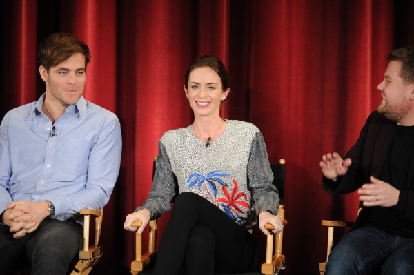 Chris Pine, Emily Blunt, James Corden