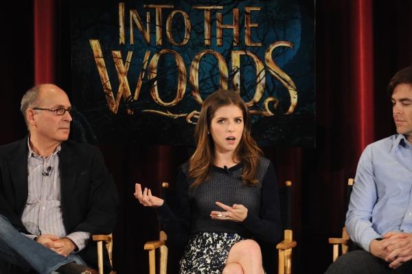 Screenwriter James Lapine, Anna Kendrick and Chris Pine