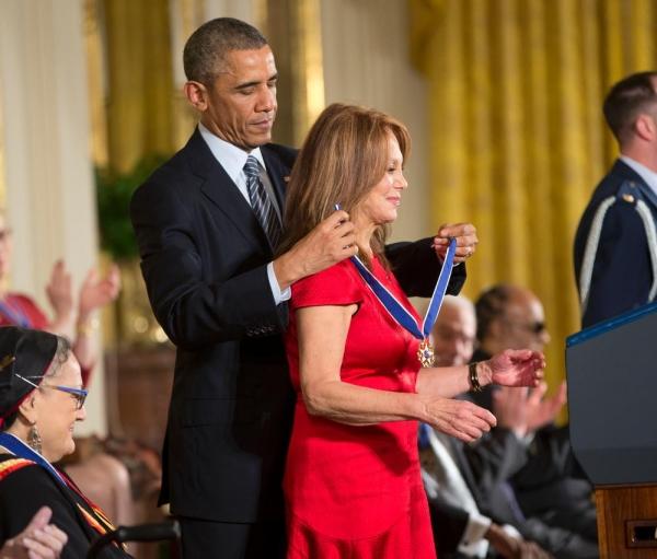 President Barack Obama and Marlo Thomas