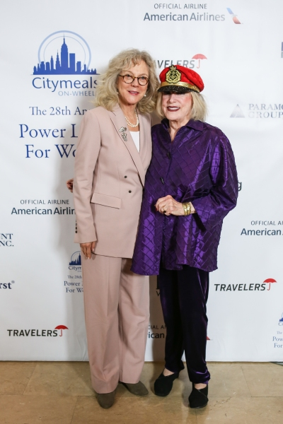 Blythe Danner and Citymeals-on-Wheels Co-Founder and Board Chair Gael Greene  Photo