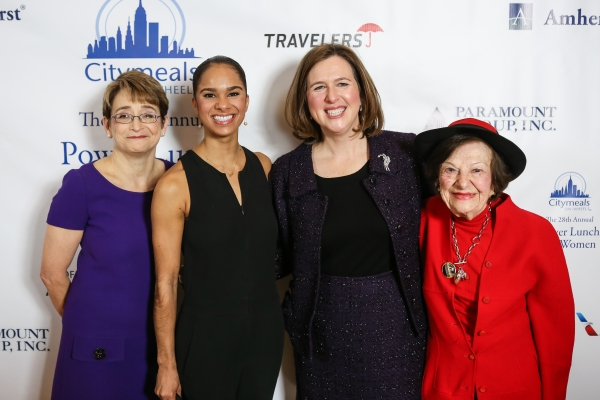 Co-President of the Citymeals-on-Wheels Board of Directors Anne E. Cohen; Misty Copeland; Beth Shapiro, Executive Director of Citymeals-on-Wheels; Ruth Finley, Citymeals-on-Wheels Board Member