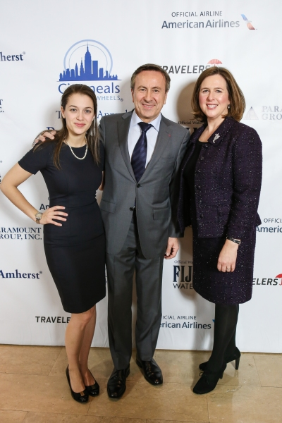 Alix Boulud; Co-President of the Citymeals-on-Wheels Board of Directors Chef Daniel Boulud; Beth Shapiro, Executive Director of Citymeals-on-Wheels